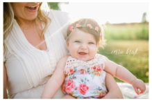 light and airy, 6 month old girl, colorado outdoor baby photos, corrie kraft portraits, baby flower crown